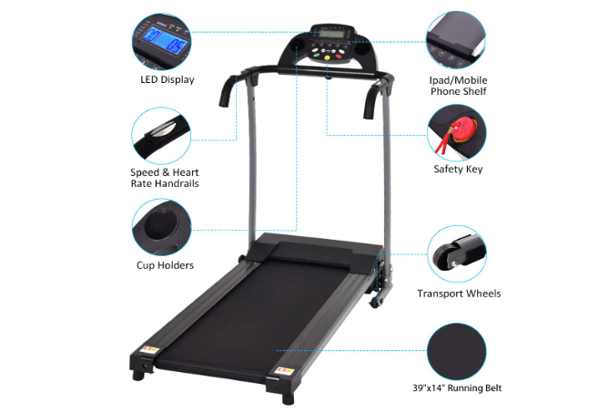 Goplus 800W Folding Electric Treadmill-min