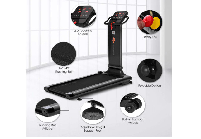 Goplus Electric Folding Treadmill features