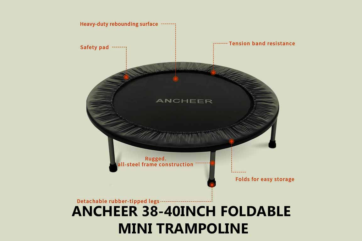 ANCHEER 38-40Inch Foldable Mini Trampoline