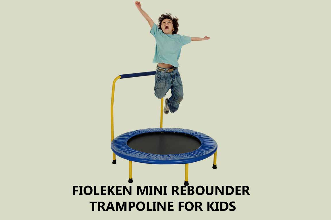 Fioleken Mini Rebounder Trampoline for Kids