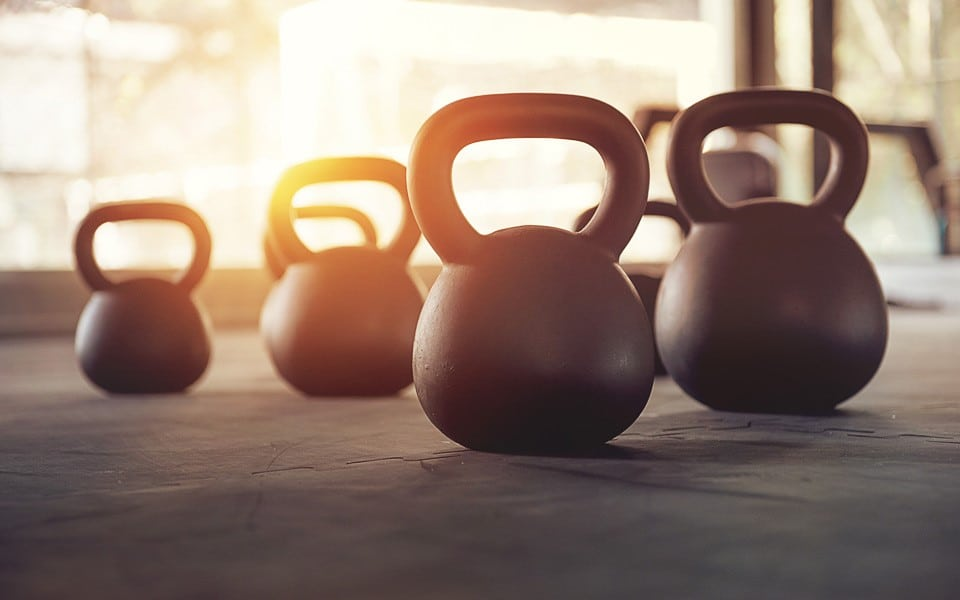 Kettleballs in the gym